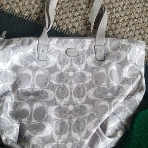 Coach Tote with makeup bag